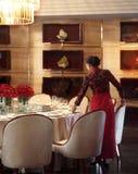 Das Hotelrestaurant Stockfoto