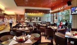 Das Hotelrestaurant Lizenzfreies Stockfoto