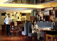 Das Hotelrestaurant Stockfotografie