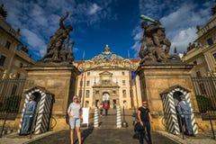 Das Hradcany-Quadrat in der alten Stadt Prags, Tschechische Republik stockfoto