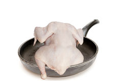 Das Huhn auf Bratpfanne Lizenzfreies Stockbild