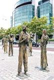 Das Hunger-Denkmal, Dublin, Irland lizenzfreies stockfoto