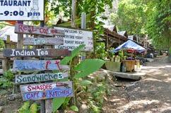 Das hyppie Art Tonsai-Dorf zwischen AO Nang und Railay stockfotografie