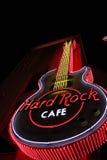 Das ikonenhafte Zeichen von Hard- Rock Caferestaurant Stockfotografie