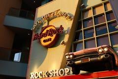 Das ikonenhafte Zeichen von Hard- Rock Caferestaurant Lizenzfreie Stockbilder