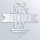 Das ilustrações abstratas do vetor do projeto 3D do fundo dia do pai feliz Imagens de Stock