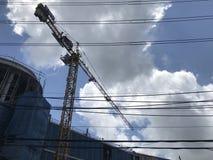 Das im Bau des neuen Geschäftsgebäudes Königs Power stockbilder