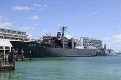 Das indonesische des amphibischen Schiff KRI Banda Ace Transportdocks der Marine Lizenzfreies Stockbild