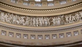 Das Innere des Kapitol-Gebäudes ganz, welches herum die Geschichte erzählt Lizenzfreie Stockbilder