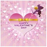 Das Innere des Valentinsgrußes mit Amor Stockfotos