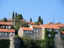 Das Inselresort von Sveti Stefan, Montenegro Lizenzfreie Stockfotos
