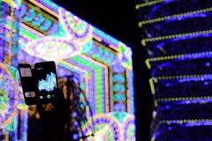 Das intelligente Telefon und das Konzert Stockfotos