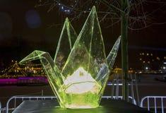 Das 20. internationale Eis-Skulptur-Festival im Jelgava Lettland Stockbild