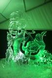 Das 20. internationale Eis-Skulptur-Festival im Jelgava Lettland Stockfotografie