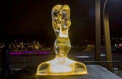 Das 20. internationale Eis-Skulptur-Festival im Jelgava Lettland Lizenzfreies Stockbild