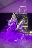 Das 20. internationale Eis-Skulptur-Festival im Jelgava Lettland Lizenzfreie Stockfotografie