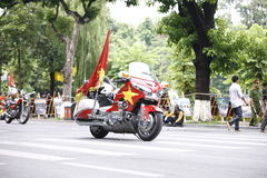 "Das internationale Radfahren†""Ton Hoa Sen Cup 2016 turnier VTV am 2. September 2016 in Hanoi, Vietnam Lizenzfreie Stockfotografie"