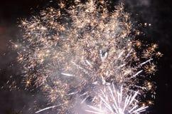 Das internationale Theater-Festival 2014 Feuerwerke Sibius Lizenzfreie Stockbilder