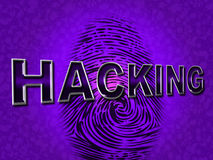 Das Internet-Zerhacken stellt World Wide Web und Angriff dar Stockfotografie