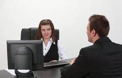 Das Interview Stockfotos