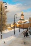 Das Ipatiev-Kloster ist ein männliches Kloster, aufgestellt auf der Bank des Kostroma-Flusses gerade gegenüber von der Stadt von  Lizenzfreies Stockbild
