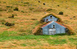 Das isländische Erdschützen verschüttete Lizenzfreie Stockfotos