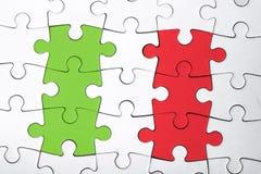 Das italienische Puzzlespiel stockfotos