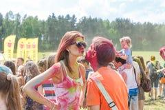 Das jährliche Festival von Farben ColorFest stockbild