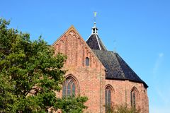 Das Jacobuskerk in Zeerijp, Provinz von Groningen stockfotografie