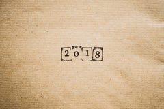 das Jahr 2018 als Zahlen Stockfotos