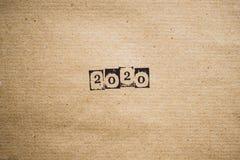 Das Jahr 2020 auf Papier Lizenzfreies Stockfoto