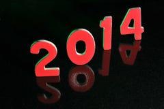 Das Jahr 2014 in den hölzernen Zahlen zusammen Lizenzfreies Stockfoto