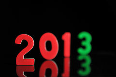 Das Jahr 2013 in den hölzernen Zahlen zusammen Stockfoto