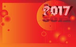 2017 - das Jahr des Feuerhahnes Stockfotografie