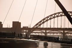 Das Jahrtausend und die Tyne-Brücken. Newcastle nach Tyne. Lizenzfreies Stockbild