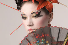 Das japanische Mädchen Stockbilder