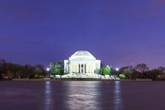 Das jefferson-Denkmal an der Dämmerung, Washington DC, USA Stockbild
