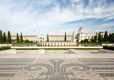 Das Jeronimos-Kloster oder Hieronymites-Kloster wird herein lokalisiert Stockfotos