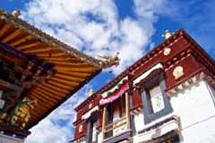Das Jokhang Tempel-Quadrat Lizenzfreie Stockbilder