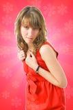 Das junge attraktive Mädchen Stockfotos
