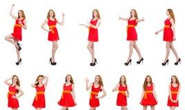 Das junge schöne Mädchen lokalisiert auf Weiß lizenzfreie stockfotografie