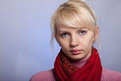 Das junge schöne Mädchen mit einem geöffneten Anblick Lizenzfreie Stockfotos