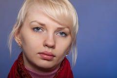Das junge schöne Mädchen mit einem geöffneten Anblick Lizenzfreie Stockfotografie