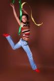 Das junge schöne Mädchen während der aktiven Freizeit Lizenzfreie Stockbilder