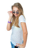 Das junge schöne Mädchen Lizenzfreie Stockbilder