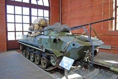 Das kämpfende sowjetische Fahrzeug einer Landung im Museum von Sakharov Togliatti Russland Lizenzfreies Stockfoto