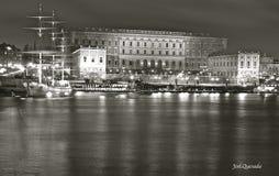 Das königliche Schloss in Stockholm Stockbild
