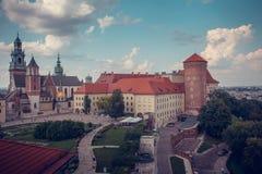 Das königliche Schloss Wawel in Krakau, Polen Lizenzfreie Stockbilder