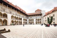 Das königliche Wawel-Schloss, italienisches palazzo in Krakau Lizenzfreies Stockbild