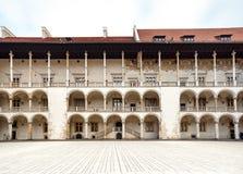 Das königliche Wawel-Schloss, italienisches palazzo in Krakau Lizenzfreie Stockfotos